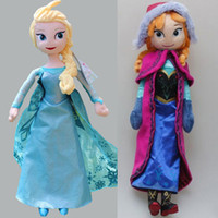 Wholesale 1PC Retail frozen doll cm elsa anna frozen plush doll cm action figures plush toy dolls Cheap Christmas Gift Kids toys