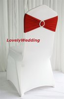 Wholesale Chair Band Spandex Bands Lycra Band Chair Covers Sash For Wedding Banquet spandex sash for cover chair spandex