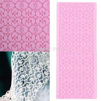 Wholesale 1pc High Quality Silicone Flower Lace Fondant Embossed Mold Sugarcraft Cake Decorating Mould Tool Baking Tool