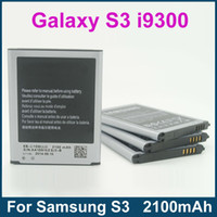 Wholesale S3 i9300 Battery EB L1G6LLU For Samsung Galaxy S3 i9300 Cellular mAh High Quality