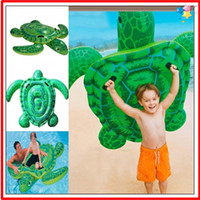 Wholesale 2016 hotsales top quality Fedex freeshipping Sea turtle Water floating bed Women Chidren Swimming Toys Inflatable Floats
