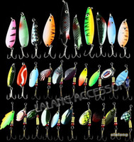 bait and tackle - 30pcs Colorful and varied Fishing Lures Size Weight Hook Diving depth Metal Spoon Lures hard bait fishing tackle bz672102