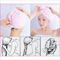 Wholesale Hat Cap Magic Microfibre Hair Drying Wrap Towel Turbie Turban Shower