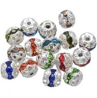 Wholesale Hot DIY bracelet necklace jewelry accessories beads diamond flower shaped ball ball drill mm