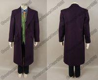 anime trench coat - Batman The Dark Knight Joker wool purple trench coat Jacket Men Halloween cosplay costume