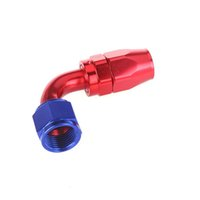 Wholesale Hot Sale New AN8 degree Swivel Fuel Oil Hose Terminal End Fitting Adapter Aluminum Red K999R