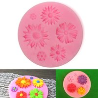 Wholesale Pink Silicone Flower Mold Cake Decorating Chocolate Sugar Craft Mould bakeware KDB_207