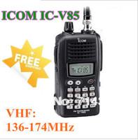 Wholesale strong power Watts VHF136 MHz waterproof walkie talkie IC V85 handheld two way radio ICV85