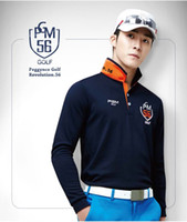 Wholesale PGM new Korean men s golf clothing spring and autumn long sleeved golf Shirts size M XXL