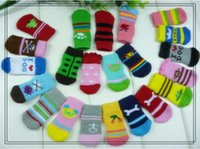 Wholesale New fashion pieces per set mixed design dog socks pet accessories dogs or cats non slip sock T3171