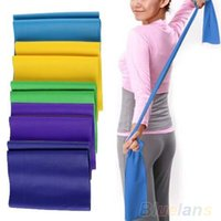 Wholesale 8552 m Yoga sport Pilates Rubber Stretch Resistance Exercise Fitness belt Band P