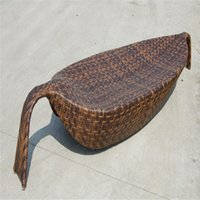 rattan outdoor furniture - Factory rattan outdoor furniture lying bed