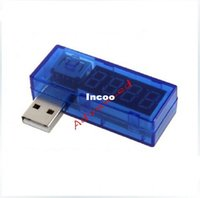 Wholesale 5pcs Digital USB Mobile Power charging current voltage Tester Meter Mini USB charger doctor voltmeter ammeter