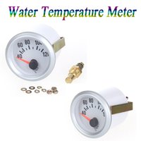 Wholesale 12V Car Water Temperature Meter Gauge with Sensor for Auto Car quot mm Celsius Degree Blue LED Light