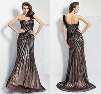 floor length satin dress - 2015 Elegant Column One Shoulder Sweetheart Floor length Satin And Tulle Evening Dress