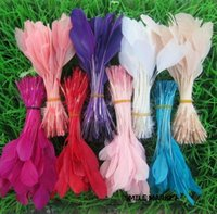Wholesale inch Top Quality Earring decoration Accessories Stage performances DIY Goose Feather Mix Color