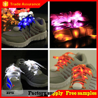 aa plastics - Christmas gift New Design LED Lamp beads Flashing ShoeLace Fiber Optic Shoelace Luminous Shoe Laces Light Up Flash Glowing Shoeslace