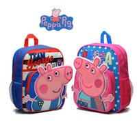 Cheap Brand New Peppa Pig School Bags Shoulder Backpack Pepa pig bag Children's backpack Cartoon