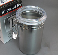 Wholesale Airproof Pot Stainless Steel Tobacco Storage Box Size Tobacco Leaf Sealed Jar Pot Easy Lock by Meow