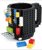 Wholesale 500 BBA4738 colors Creative DIY Build on Brick Mugs Coffee Drink CUP Lego PixelBlocks Mega Bloks KRE O K NEX Bricks Compatible Bricks Cup