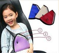 child car safety belt - 160pcs Safe fit thickening car safety belt adjust device children Mesh safety belt padding protector seat belt positioner