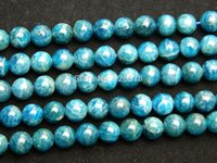 apatite gem stone - natural mm blue apatite round loose gem stone beads for jewelry making