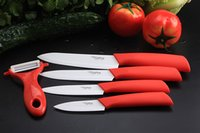 chefs knives set - kitchen Ceramic fruit Knife Set Kit Chef s Knives quot quot quot quot inch Peeler Black Red Pink Green Handle
