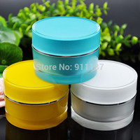 beauty supply containers - 50ml round shape container packaging beauty jars container online shop g acrylic container packaging supply