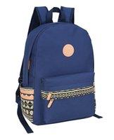 Wholesale Fashion shoulder bag oxford sports or leisure backpack popular student bag with soft tote black blue