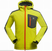 Wholesale 2015 Newest Brand Hiking Softshell Jacket Men Waterproof Windproof Thermal Jacket Windstopper Hiking Camping Ski Hi Q