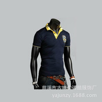 agents distributors - 2015 Men s t shirt embroidered letters short sleeve polo shirt collar men to join the new clothing consignment Agent Distributor