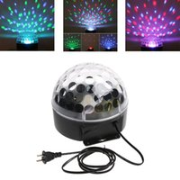 RGB ball plugs - 20W Voice activated LED RGB Crystal Magic Ball Effect Light Disco DJ Party Stage Lighting US Plug CE H8897US
