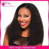kinky straight full lace wigs - kinky straight glueless full lace human hair wigs unprocessed malaysian coarse yaki virgin hair lace front wigs baby hair for black women