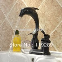 bathroom sink - Bathroom Faucet inch centerset dolphin shaped Water faucet One Hole single handle thermostatic Sink Mixer Tap YN g89