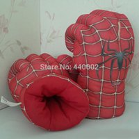 amazing perform - New Arrival Hotsale quot Spider Man Plush Gloves The Amazing Spider Man Performing Props Toys Set of