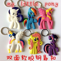 Wholesale my little pony sided soft PVC Keychain keychain pendant small Ma Baoli