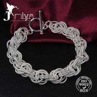 Wholesale Hot selling high quality Shining silver circle Ladies charm Bracelet Bangle jewelry
