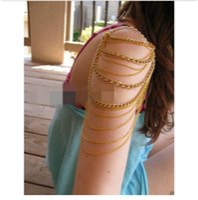 Wholesale Bohemian New Fashion Women Three Tassels Chain Upper Arm Cuff Arm Chain Armband Armlet Jewelry sl096