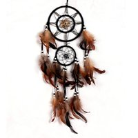 Wholesale DIU Shell Dream Catcher With Feathers Wall Hanging Decoration Ornament Gift
