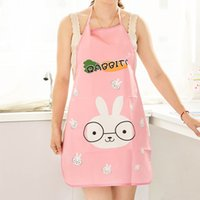 Wholesale F09 bust cartoon kitchen aprons cute aprons PVC waterproof anti oil stain sleeveless Apron