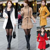 Cheap women woollen coat Best double breasted coat
