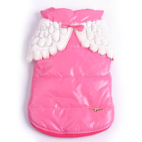 Wholesale Designer Winter Pet Dog Festivals Costumes Angel Wing Dogs Padded Warm Coat Jacket Clothes Dogs Clothing Products Supplies