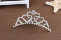 Cheap 2015 Free Shipping Shining Wedding Bridal Crystal Veil Tiara Crown Headband Hairwear Beauty Pageant Crown Headpiece