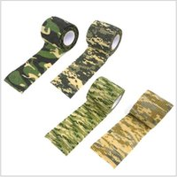 Wholesale 8roll Camo tape Outdoor sport Camouflage adhesive tape Camp Hunting Self adhesive tape Repeated use leaving no trace