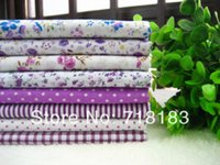 Wholesale x50cm Mixed Purple Tilda Patchwork Cotton Fabric Home Textile Cloth Group for Tilda Cloth Crafts Handwork