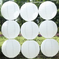 Wholesale 20pcs Inch CM Round Chinese Paper Lantern For Wedding Decoration Party Supplies Gift Craft DIY White