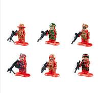 army action figure - LELE Action Figure Swat Team Weapons Army Minifigures Building Blocks Sets Bricks Kid s toys No Original Box