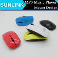 mouse card reader - Mini Rechargeable Mouse MP3 Music Player W TF card Slot USB Cable Earphone MP3 retail box