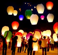 Cheap Wholesale Colorful Wedding Balloons Flying Paper Sky Lanterns Chinese Paper Wish Floating Lamps Lights Birthday Party Decoration
