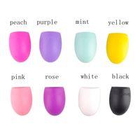 Wholesale Silicone Brushegg Make Up Washing Brush Scrubber Cosmetic Brush Egg Brush Cleaning Glove color